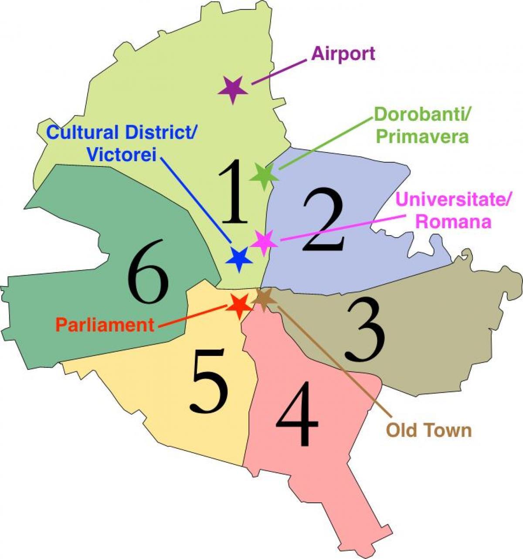 Harta Sectoare Bucuresti Harta